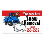 Snow Plowing.Snow Removal Promotional card Double-Sided Standard Business Cards (Pack Of 100)