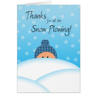Snow Plowing Thanks Card