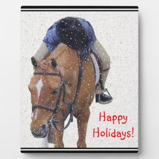 Snow Pony Holiday Plaque