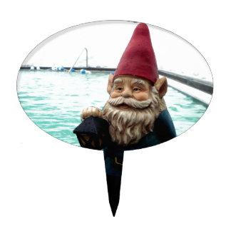 Snow Pool Gnome Cake Topper
