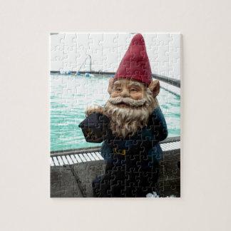 Snow Pool Gnome Jigsaw Puzzle
