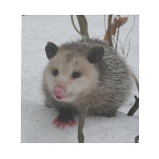 Snow Possum Notepad