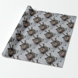 Snow Possum Wrapping Paper