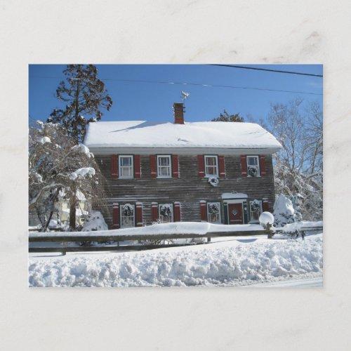 Snow postcard