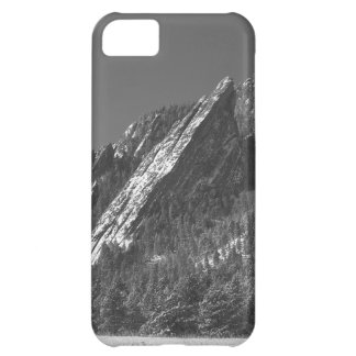Snow Powder Dusted Flatirons Boulder CO BW iPhone 5C Cases