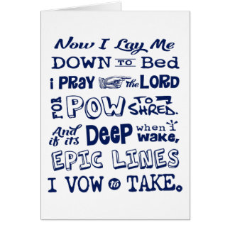 Snow Prayer Card