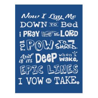 Snow Prayer Postcard