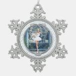 Snow Princess Ballerina Pewter Snowflake Ornament