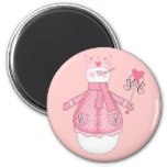 Snow Princess Holiday Tshirts and Gifts 2 Inch Round Magnet