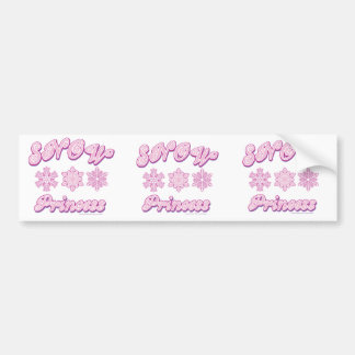 Snow-princess-on-Dark Bumper Sticker