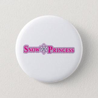 Snow-Princess-pink Pinback Button