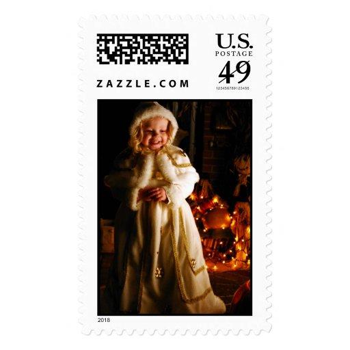Snow Princess Postage Stamp
