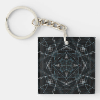 Snow Prism Graphic Keychain