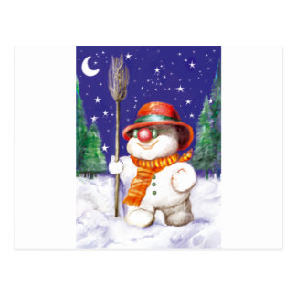 Snow Puppet by Albruno. Postcard