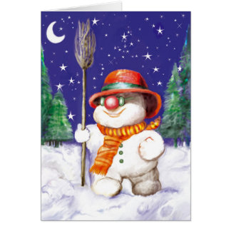 *Snow Puppet* Greeting Card