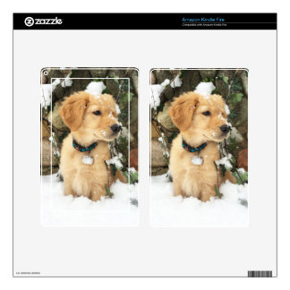 Snow Puppy Kindle Fire Skins