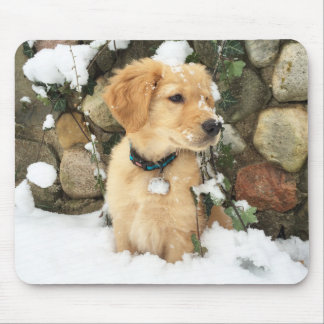 Snow Puppy Mouse Pad