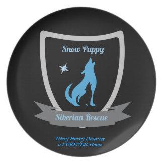 Snow Puppy Siberian Rescue Plate