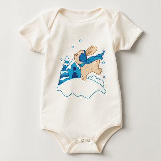 Snow Puppy Winterland Baby Bodysuit