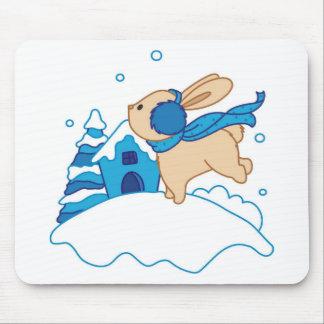 Snow Puppy Winterland Mouse Pad