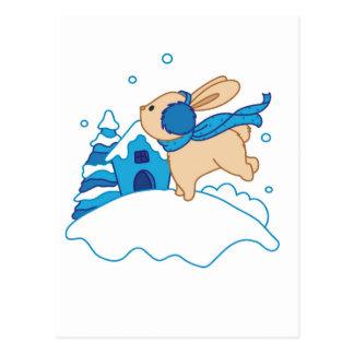 Snow Puppy Winterland Postcard