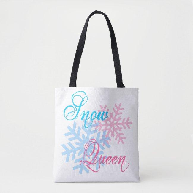 Snow Queen and snowflakes elegant