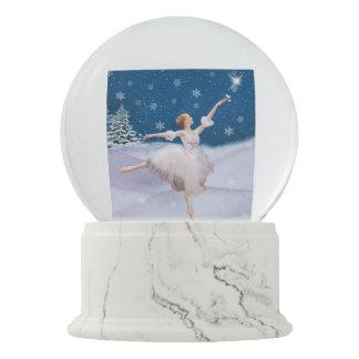 Snow Queen Ballerina and Star Snow Globes