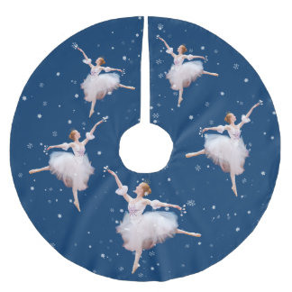 Snow Queen Ballerina Brushed Polyester Tree Skirt