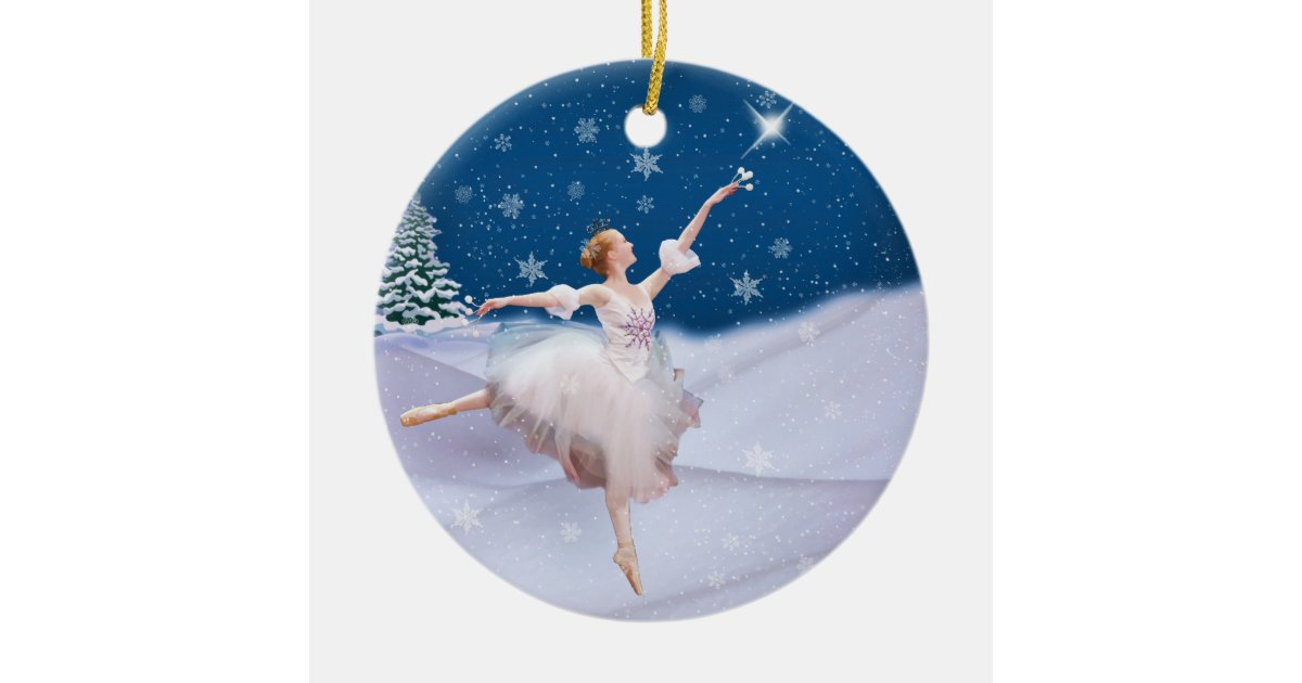 snow queen ballerina christmas ornament zazzlecom