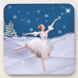 Snow Queen Ballerina  Cork Coasters
