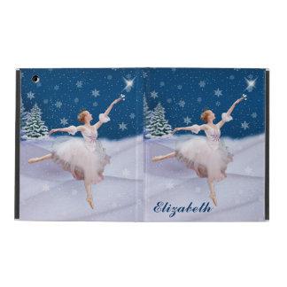 Snow Queen Ballerina, Customizable Name iPad Cover