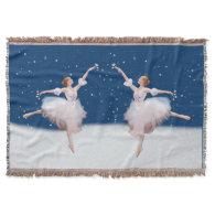 Snow Queen Ballerina Customizable Throw