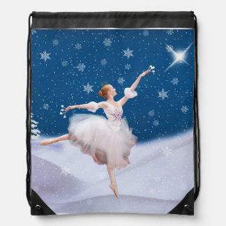 Snow Queen Ballerina Drawstring Backpack