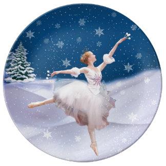 Snow Queen Ballerina Plate