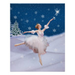 Snow Queen Ballerina Poster