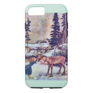 Snow Queen Fairy Tale with Reindeer iPhone 8/7 Case