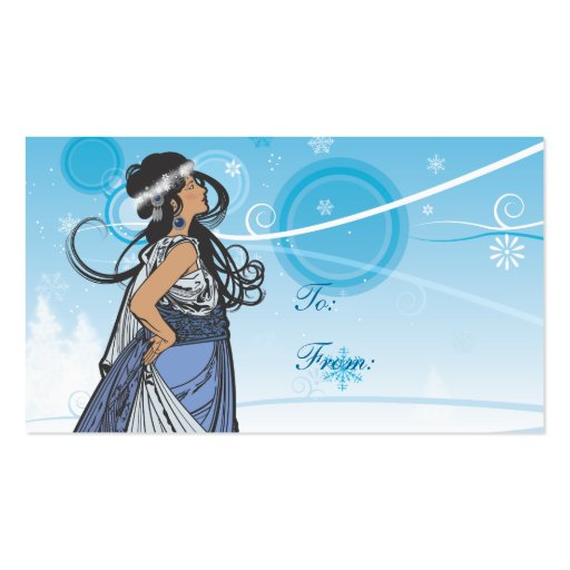 Snow Queen Gift Tags Double-Sided Standard Business Cards (Pack Of 100)