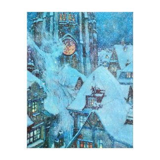 Snow Queen on a Winter's Night Dulac Illustration Canvas Print