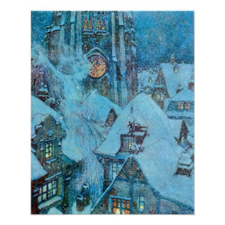 Snow Queen on a Winter's Night Dulac Illustration Poster