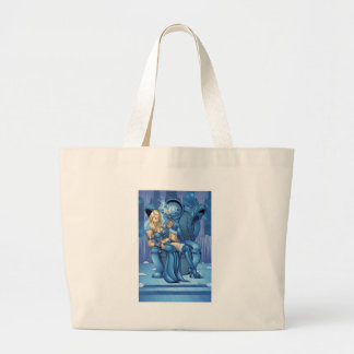 Snow Queen Pin-up Large Tote Bag