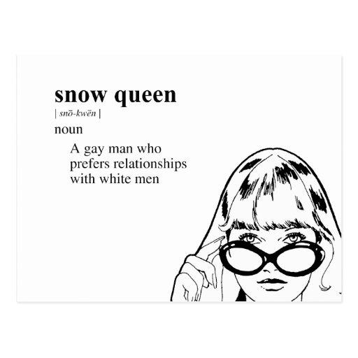 SNOW QUEEN POST CARD