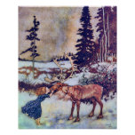 Snow Queen Vintage Fairy Tale Illustration Posters