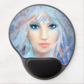 Snow queen. Winter beautiful woman. Gel Mouse Pad