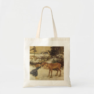 Snow Queen with Gerda Fairy Tale Illustration Bag