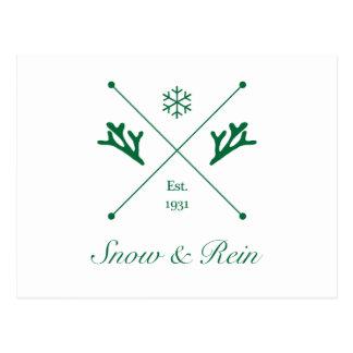 Snow & Rein - A Hipster Santa Company Postcard