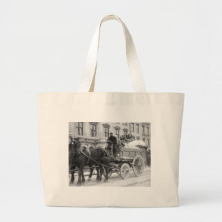 Snow Removal, 1908 Canvas Bag