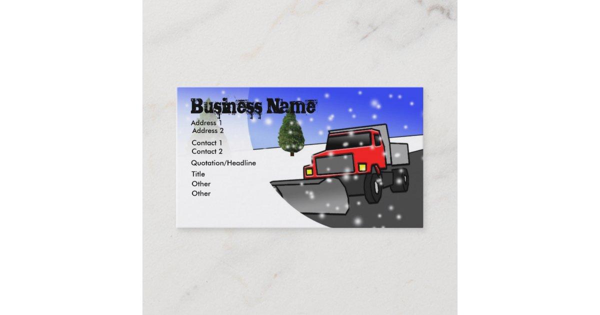 Nice Snow Plow Business Cards Motif - Business Card Ideas - etadam.info