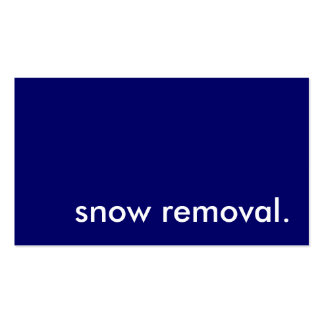 snow removal. business card templates