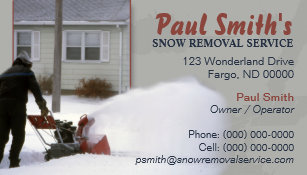 Snow removal business cards zazzle snow removal business card colourmoves