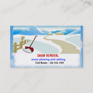 Snow removal business cards zazzle snow removal business cards colourmoves